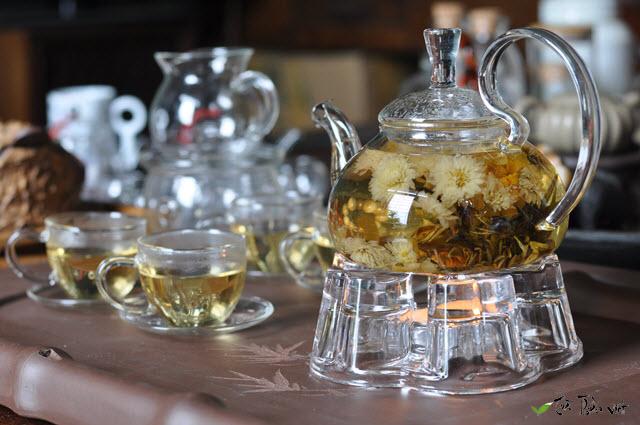 bộ ấm chén pha trà bằng thủy tinh