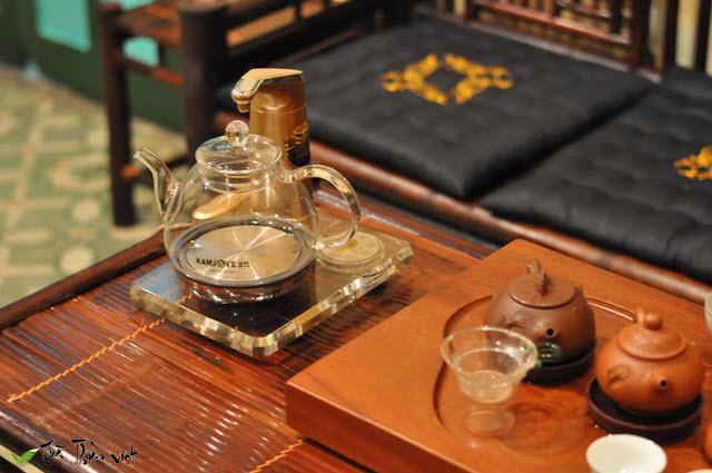 Bộ đun nước pha trà thủy tinh